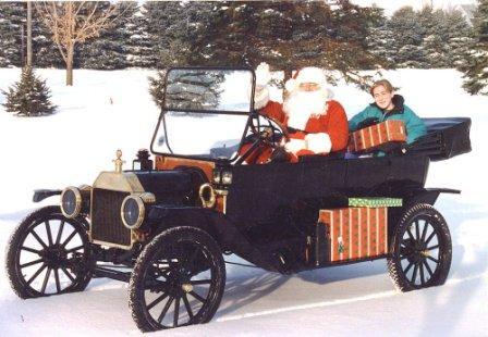 1914 Model T Ford Tourer in snow