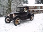 1926 Roadster in the snow