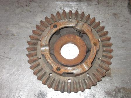 Crown Wheel or Ring gear bolted to a housing