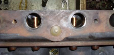 The fitted Klines as seen through the valve port