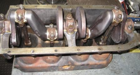 Counter balanced Model T Ford crankshaft