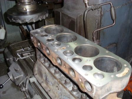 With the surface milled, the valve seats can now be cut