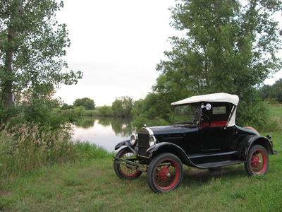 1927 roadster, gone fishin