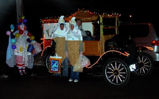 Model T Ford C Cab in Christmas dress