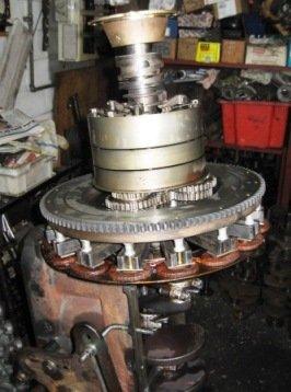 Assembled Model T Ford transmission