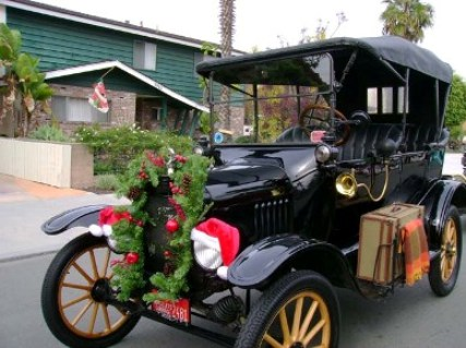 Model T Ford Christmas in San Diego