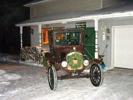Model T Ford Christmas in Minnesota